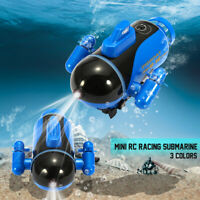 Mini Radio Racing RC Submarine Remote Control Boat Kids Toy With LED   ''*