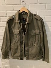 GAP Men's Green Fatigue Army Military Style 100% Cotton Jacket Size M