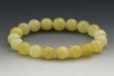Butter Round Beads 9mm Genuine Baltic Amber Stretch Bracelet 7.6g b151215-3