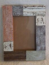 """Prinz Picture Frame Multi Color Wood Holds 4"""" x 6"""" Photo New"""