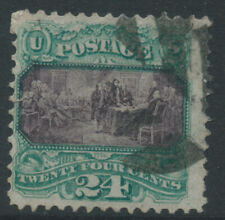 More details for usa 1896 sg122 24c deep purple & green - grill - good used - off-centre cat £700