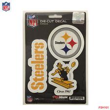 New NFL Pittsburgh Steelers Team ProMark Die-Cut Decal Stickers 3-Pack