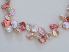 "Honora Pink Halo Cultured Petal Keshi Pearl Graduated 18"" Necklace"