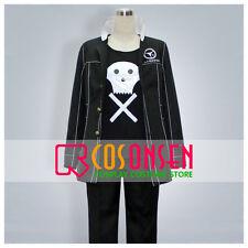 Cosonsen Persona 4 Kanji Tatsumi Cosplay Costume Black Uniform Custom Made