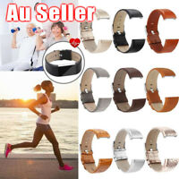 AU Leather Replacement Wristband Smart Bracelet Strap Band For Fitbit Charge 2