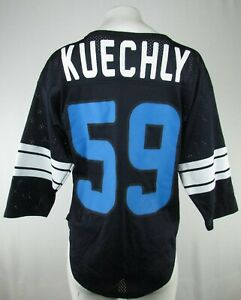 Carolina Panthers NFL Women's Mesh Luke Kuechly Black Jersey Shirt