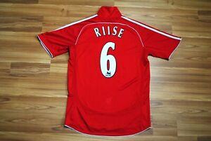 LIVERPOOL ENGLAND 2006/2007/2008 HOME FOOTBALL SHIRT JERSEY ADIDAS 6 RIISE SMALL