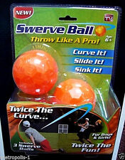 AS SEEN ON TV,SWERVE BALL,SET OF 3,TRICK BASEBALL,THROW LIKE A PRO,KIDS 6+,NEW