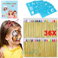 36Pcs Body Painting Crayons Face Paint Crayon Sticks Set Make Up Kids Children