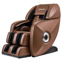 Full-Body 3D SL-Track Deep Zero-Gravity Music Real Relax Massage Chair - Brown