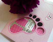 Nail Art Self Adhesive Full Toe Nails Polish Wrap Sticker Pink Polka Dot 1023T