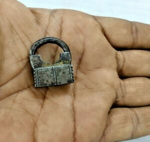 Antique Old Iron Screw Type Miniature Or Small Padlock lock with 2 working key.