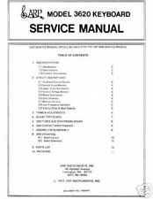 Arp 3620 Synthesizer Service Manual Service Notes Sheet