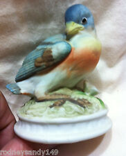 Lefton Porcelain Eastern Blue Bird  Figurine #KW1637