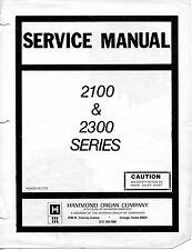 Hammond Concorde Organ Service Manual (COMPLETE PDF)
