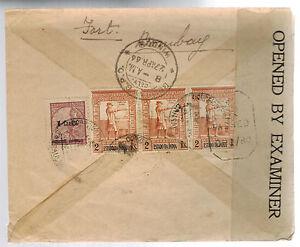 1944 Goa Portuguese India Censored Cover to Central Bank Bombay India