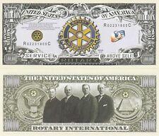 Rotary Club Million Dollar Bill Fake Play Funny Money Novelty Note + FREE SLEEVE
