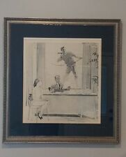 "Norman Rockwell Original Pencil Signed & Numbered Lithograph ""The Window Washer"""