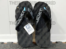 Gravis Soundcheck Sandals Men's 8 Black Flip Flops Beach Pool Slippers NICE BRO!