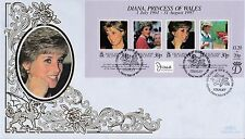FALKLAND Is 1998 DIANA Princess of WALES Mini Sheet Benham SILK FDC Ref:749