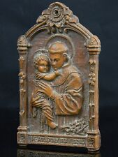 "June 1953 Communion Breakfast St Anthony "" Pray For Us "" Composition Plaque Wall"
