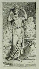 BENIGNO BOSSI - Römisches Mädchen - Radierung 1760