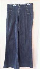 Freestyle Revolution Women's Zeplin Wash Boot Cut Jeans Metal Buttons 3 30x30
