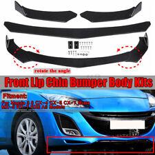 Bright Glossy Black Car Front Bumper Lip kit For Mazda 3 6 CX 5 7 Miata MX RX 8