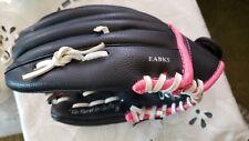 "Rawlings Pink Black WFP115 Fast Pitch Softball Mitt Glove 11 1/2"" Girls RHT"