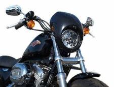 Black Motorcycle Headlight Front Visor Fairing Mask Cover 4 Harley Sportster