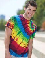 Tie Dye Multi Color Left Shoulder Swirl T-Shirt Mens Womens T Shirt