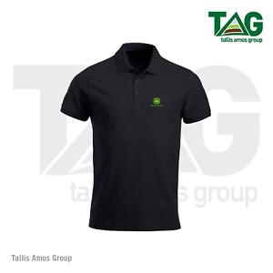 Genuine John Deere Black Polo Shirt T-Shirt - MCS3560000