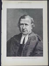 Illustrated London News Full Page B&W S6#76 Apr 1879 The Very Rev. C.J. Vaughan