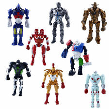 8Pcs Real Steel Movie Atom Noisy Boy Midas Twin Cities Zeus PVC Action Figures