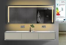 Badspiegel Led Licht Badezimmerspiegel mit Kalt/Warmlicht und Steckdose 160x70cm