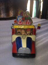 "Colmbian Folk Art Ceramic "" Chiva "" Bus Ford 45, 039 16 cm long"