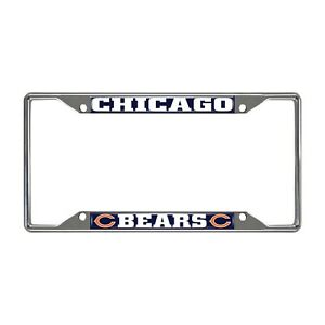 Fanmats NFL Chicago Bears Chrome Metal License Plate Frame Delivery 2-4 Days