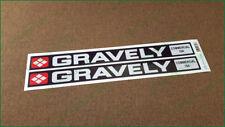"GRAVELY GARDEN TRACTOR  VINYL DECALS--STICKERS RED 1/"" X 8/"""