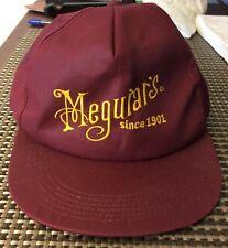 Embroidered MEGUIAR'S Car Wax / Polish Maroon Baseball Hat