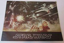 Original 1977 Star Wars Souvenir Program Textured Cover Edition 18 Pages