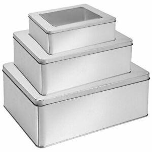 Metall Vorratsdose mit Sichtfenster Deckel Keksdose Vorrats Dosen Behälter Gefäß