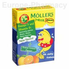 MOLLER'S Mollers JUNIOR Fish Oil OMEGA-3 & VitD-for Children CHEWABLE JELLY FISH