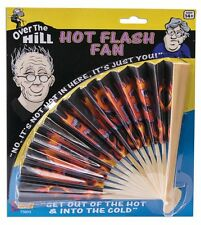 HOT FLASH FAN Over The Hill Old Joke Prop Prank Funny Flashes Menopause Hand