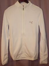 Puma white golf sweater heathered jacket womens sample sz S zip front & pockets