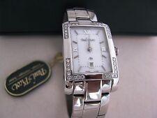 Paul Picot 4077 D32BW  ATELIER CLASSIC SQUARE WHITE Diamonds Lady Quartz  New