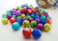 100 pce Colour Mix Round Drawbench Glass Beads 8mm Jewellery Making Craft