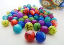 100 pce Colour Mix Round Drawbench Glass Beads 8mm Jewellery Making Craft
