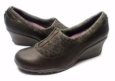 MERRELL TULIP ESPRESSO SIZE 9 WEDGES WOMENS LOAFERS FOOTWEAR CASUAL SHOES