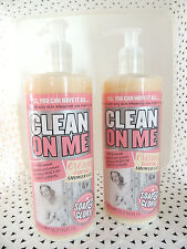 2 Soap & Glory CLEAN ON ME Creamy Clarifying SHOWER GEL 16.2 oz ea - NEW