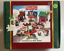 Fisher Price Little People Christmas On Main Street Complete set w/box 2003 NEW